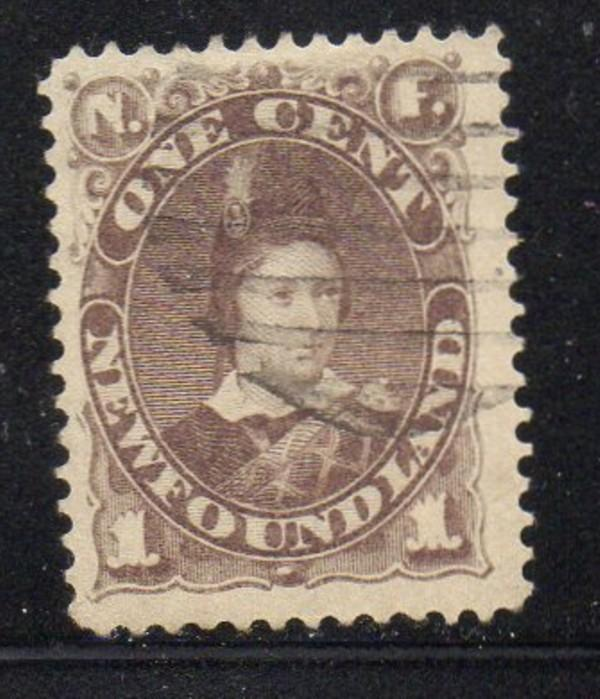 Newfoundland Sc 42 1880 1 c gray brown Prince of Wales stamp used