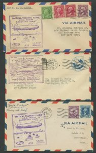 USS AKRON (10) DIFFERENT COVERS 1932 BV2440