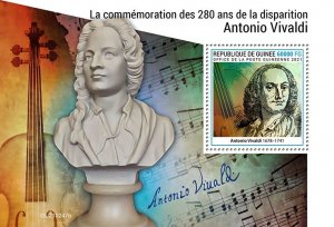 GUINEA - 2021 - Antonio Vivaldi - Perf Souv Sheet -Mint Never Hinged