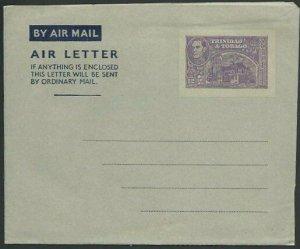 TRINIDAD GVI 12c aerogramme / air letter fine unused.......................58361