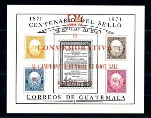 [60844] Guatemala 1974 World Cup Soccer Football Germany Ovp in red MNH Sheet