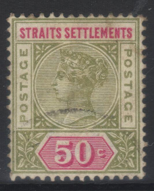 STRAITS SETTLEMENTS 1892-1899 CROWN CA SG104 USED