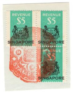 (I.B) Singapore Revenue : Duty Stamp $5