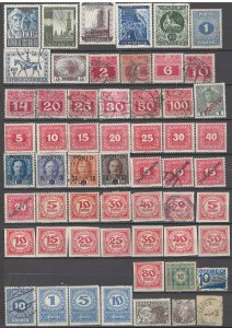 COLLECTION LOT # 1418 AUSTRIA 57 BOB STAMPS 1874+