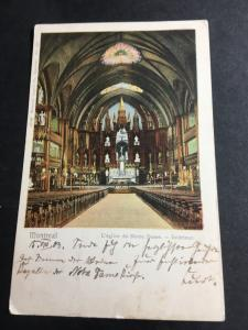 Canada to Germany View Card Showing Montreal L'eglise de Notre Dame - Interior