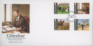 Gibraltar 1229-32 FDC cover King George (2110 155)
