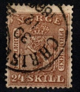 Norway #10 F-VF Used CV $125.00 (X8938)