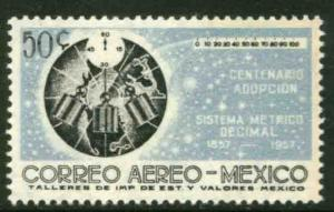 MEXICO C241, Centenary of adoption of the Metric System MINT, NH. F-VF.