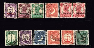 PAKISTAN STAMP USED STAMP COLLECTION LOT