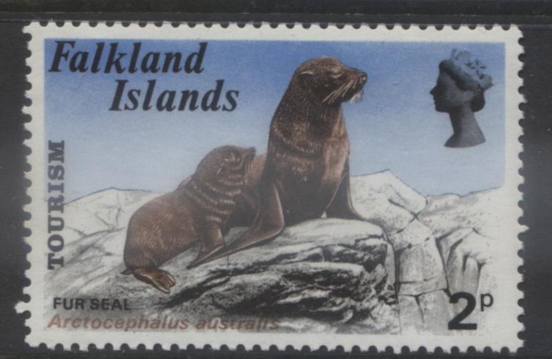Falkland Is.- Scott 227- Fur Seals - 1974- MNH - Multi - 2p Stamp