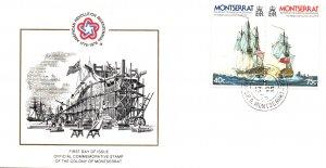 Montserrat 361a Sailing Ships U/A FDC
