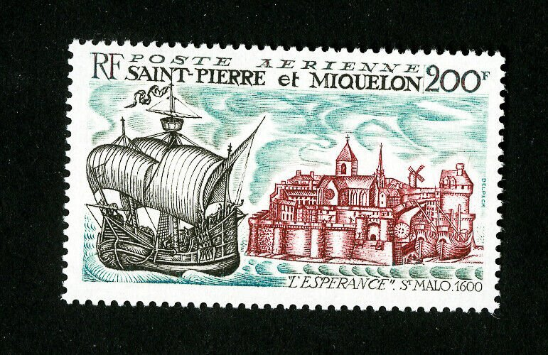 St. Pierre Stamps # C43 VF OG LH Catalog Value $45.00