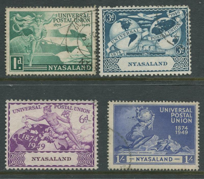 Nyasaland - Scott 87- 90 - UPU Issue -1949- FU - Set of 4 Stamp