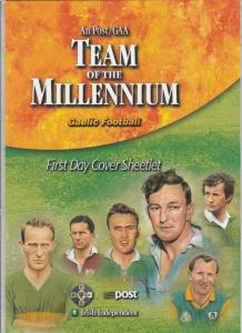 Ireland TEAM OF THE MILLENNIUM GAELIC FOOTBALL 1999  folder unopened, FDC sheetl