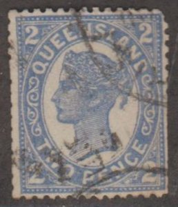 Queensland - Australia Scott #114 Stamp - Used Single