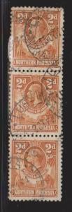 NORTHERN RHODESIA Scott #47 Used - King George V Strip Of 3