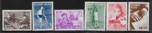BELGIUM SC# B718-23   FVF/MOG 1962