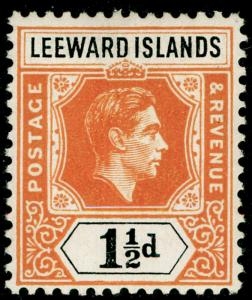LEEWARD ISLANDS SG102, 1½d yellow-orange & black, VLH MINT.