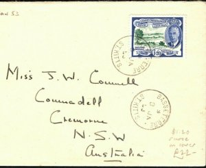 ST KITTS KGVI Cover Scarce $1.20 High Value Australia Cremorne 1953 PB354