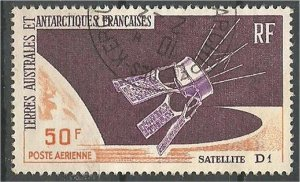 FRENCH SOUTHERN AND ANTARCTIC, 1966, used 50fr, French Satellite D-1 Scott C11