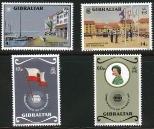 Gibraltar Scott 443-6 MNH**  1983 set