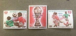 Gabon Italy Brazil 1978 World Cup FIFA Football Soccer Ovpt SECIMEN MNH