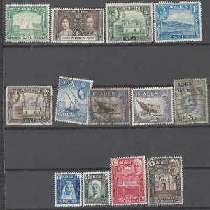 COLLECTION LOT # 1979ADEN 13 STAMPS 1937+