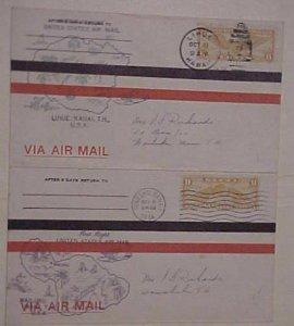 HAWAII  FLIGHTS 1934 WAILUKU,LIHUE