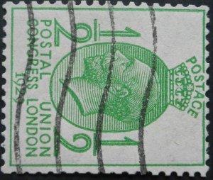 Great Britain 1929 GV PUC HalfPenny with sideways wmk SG 434a used