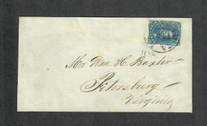 CSA Sc#4 Gooseneck Variety Confederate Stamp On Cover- CERT, Richmond VA