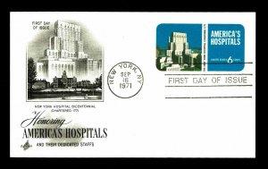 US #UX60 Postal Card Honoring America's Hospitals - Courtesy Listing (ESP#019)