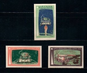 Vietnam 1971 MNH Stamps Scott 641-643 Imperf Space Flight of Luna