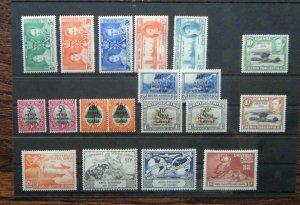 KUT 1938 - 1954 values to 3s MM