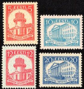 Estonia Scott 108-111 Mint never hinged.