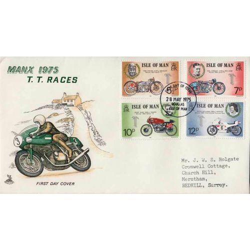 First Day Cover 28th May 1975 Manx 1975 T.T. Races