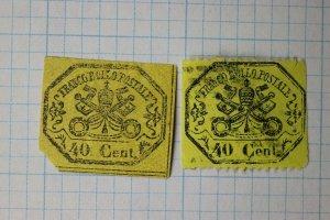 Italian Roman State sc#17 ,24c unused used yellow 40c
