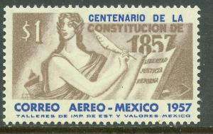 MEXICO C240, Centenary of the 1857 Constitution. MINT, NH. VF.