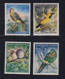 Netherlands Antilles   #B35-B38   MNH  1958  birds