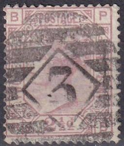 Great Britain #67 Plate 6 F-VF Used  CV $60.00 Z21