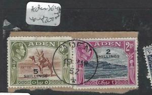ADEN (P0204B)  KGVI 2R/2/-, 5R/5/-  SG 44-5   VFU