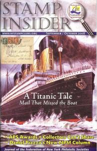 Stamp Insider: Sept./Oct. 2008, Vol. 25 No. 1,