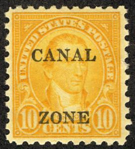 MALACK Canal Zone # 99 VF/XF OG LH, nicely centered, Fresh! b1011