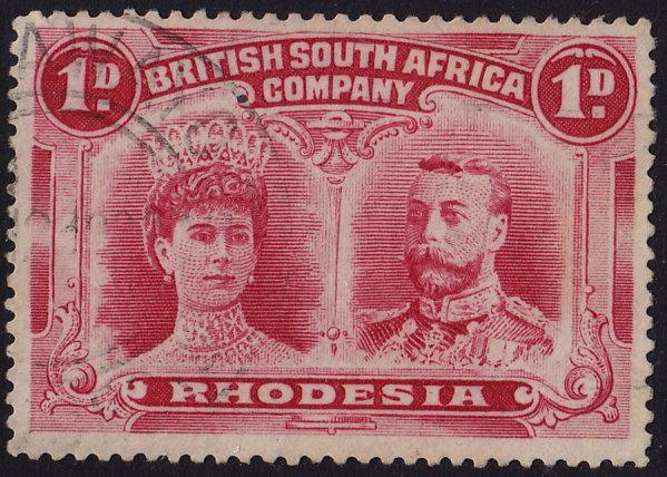 Rhodesia - 1910 - Scott #102b - used - Queen Mary and King George V