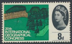 GB  SC# 412 Geographical Congress 1964 SG 653 Used as per scan