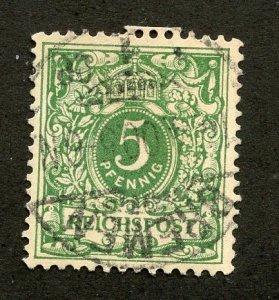 Germany, Scott #46, Used