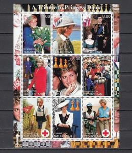Tadjikistan, 2000 Russian Local issue. Tribute to Diana. Chess & Scout shown. ^