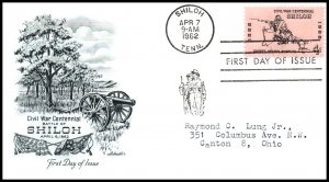 US 1179 Shiloh Artmaster Typed FDC