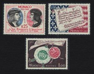 Monaco Monegasque Sovereignty 3v SG#720-722 SC#501-503