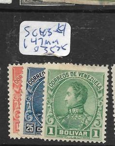 VENEZUELA  (P2304B)  SC 143-4, 147  MOG