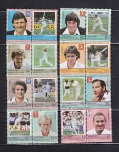 St Vincent Grenadines Union Island 126-133 Set MNH Cricket A